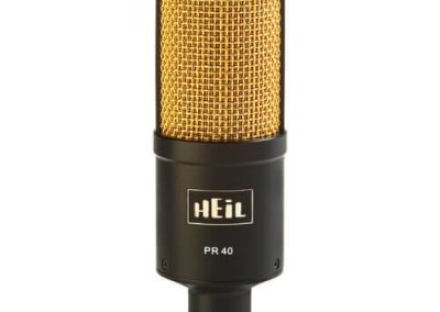 Heil Sound pr 40 dynamic cardioid studio microphone pr40 bg bh gold microphone
